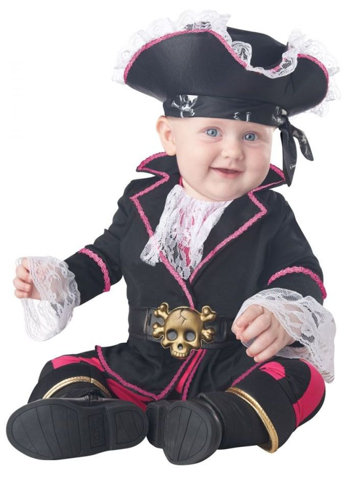 CAP'N CUDDLEBUG PIRATE COSTUME FOR INFANT GIRLS
