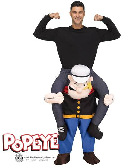 CARRY ME POPEYE COSTUME FOR ADULTS
