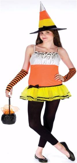 TEEN CANDY CORN WITCH