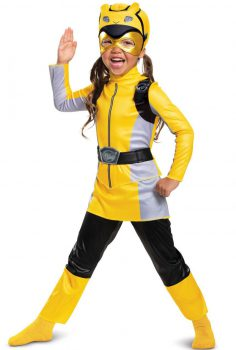 CLASSIC YELLOW POWER RANGER COSTUME FOR GIRLS