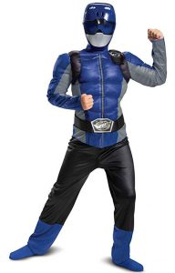 DELUXE MUSCLE BLUE POWER RANGER COSTUME FOR BOYS