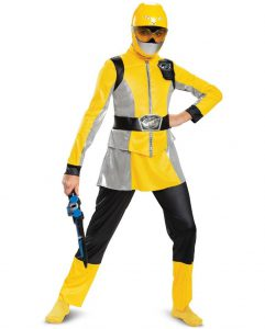 DELUXE YELLOW POWER RANGER COSTUME FOR GIRLS