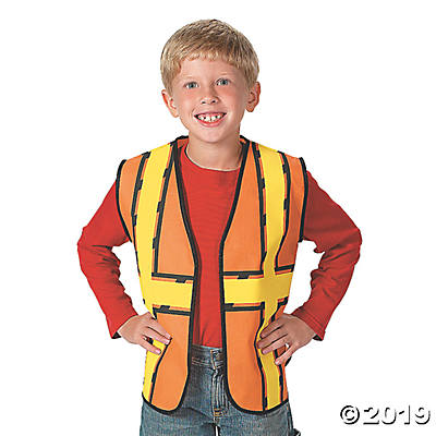 CONSTRUCTION WORKER COSTUME VEST FOR KIDS