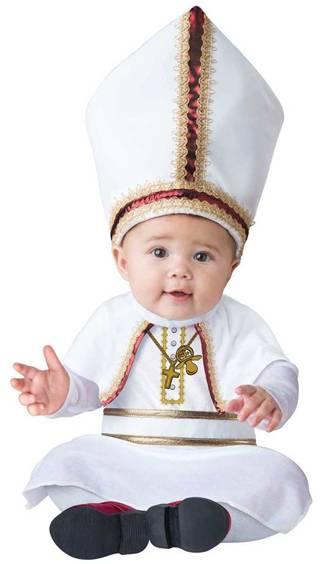 PINT SIZED POPE COSTUME FOR BABIES