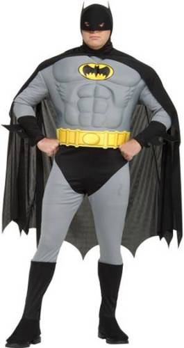 BATMAN WITH MUSCLE TORSO PLUS SIZE