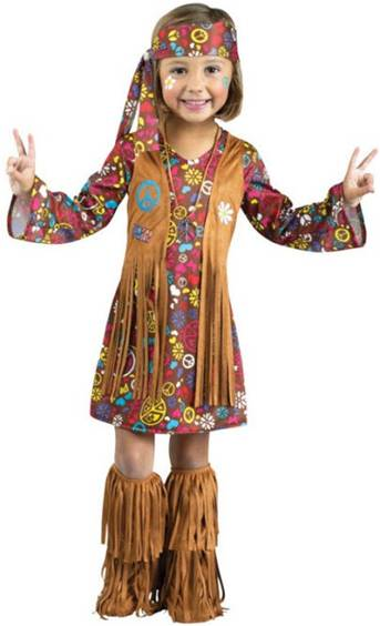 THE GROOVY HIPPIE COSTUME FOR GIRLS