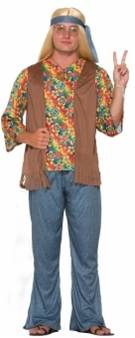 60s HIPPIE DUDE COSTUME FOR MEN