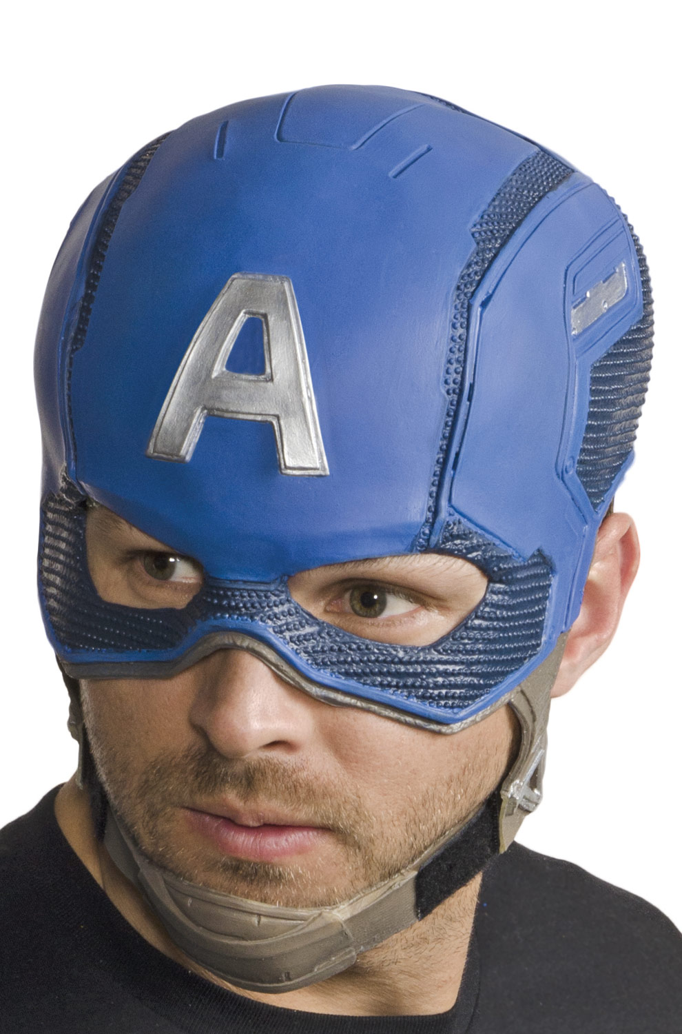 DELUXE CAPTAIN AMERICA ADULT 3/4 MASK