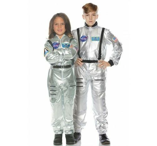 SILVER NASA ASTRONAUT COSTUME FOR KIDS