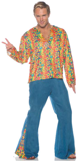 BOOGIE DOWN DISCO HIPPIE COSTUME FOR MEN