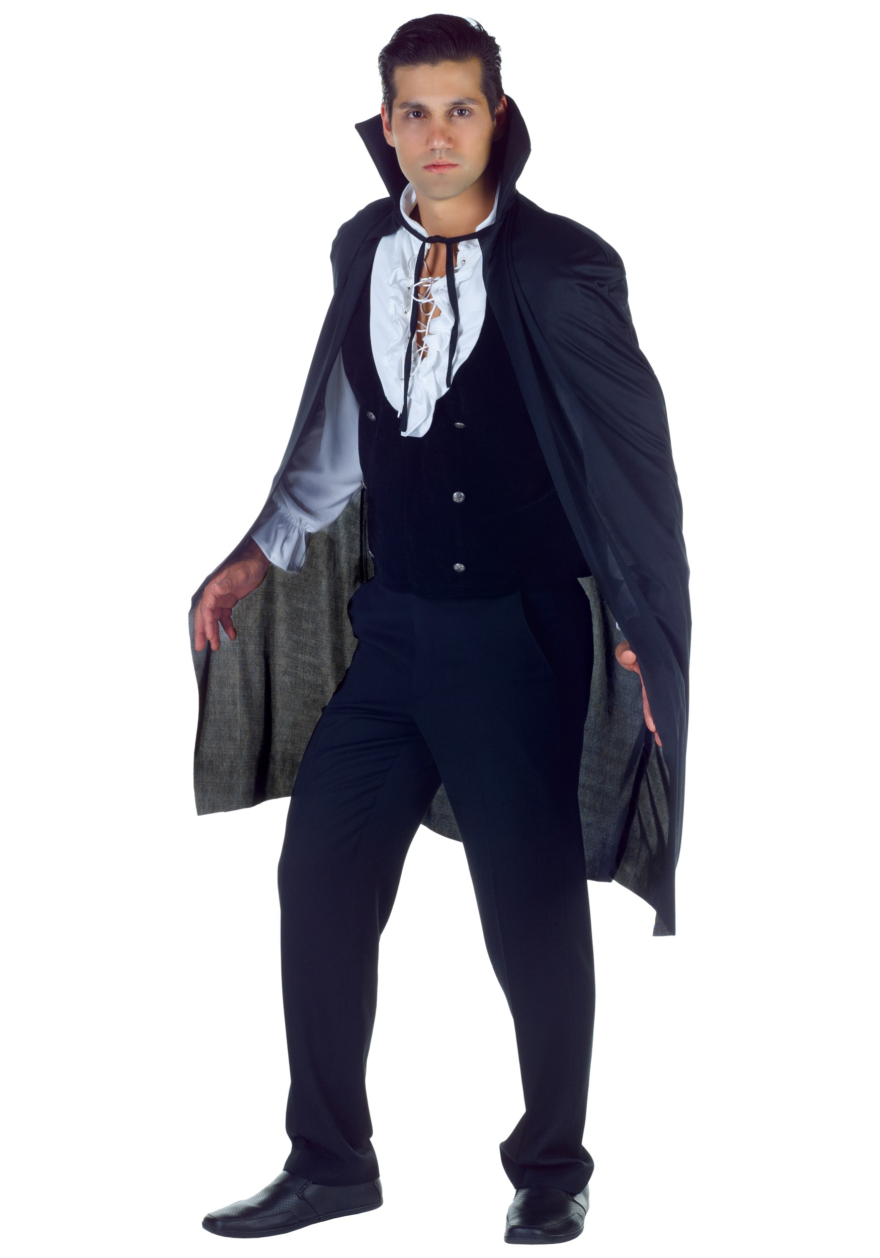 "38"" BLACK VAMPIRE CAPE FOR ADULTS"