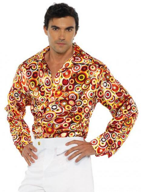 70s CIRCLE DISCO SHIRT FOR MEN
