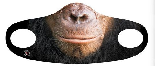 CHIMPANZEE FACE COVERING MASK FOR KIDS