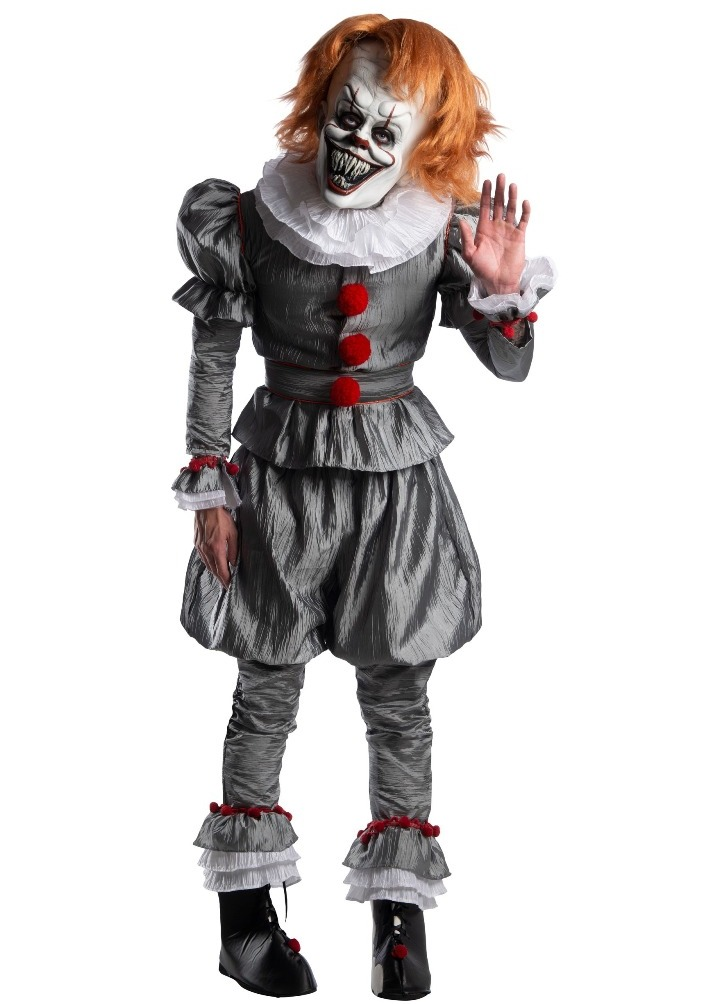 PREMIUM STEPHEN KING'S IT PENNYWISE CLOWN COSTUME