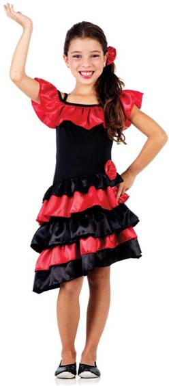 FLAMENCO SPANISH GIRL COSTUME FOR GIRLS