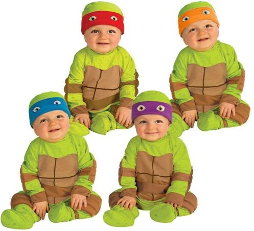 4-IN-1 TEENAGE MUTANT NINJA TURTLE BABY COSTUME