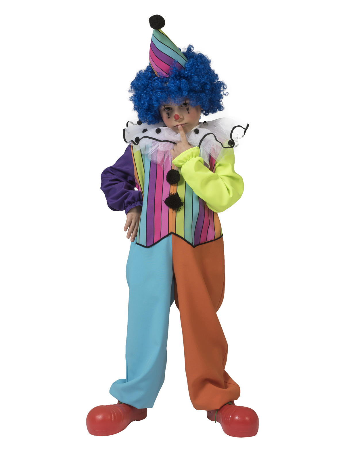 FUNNY RAINBOW CLOWN BOY COSTUME FOR KIDS