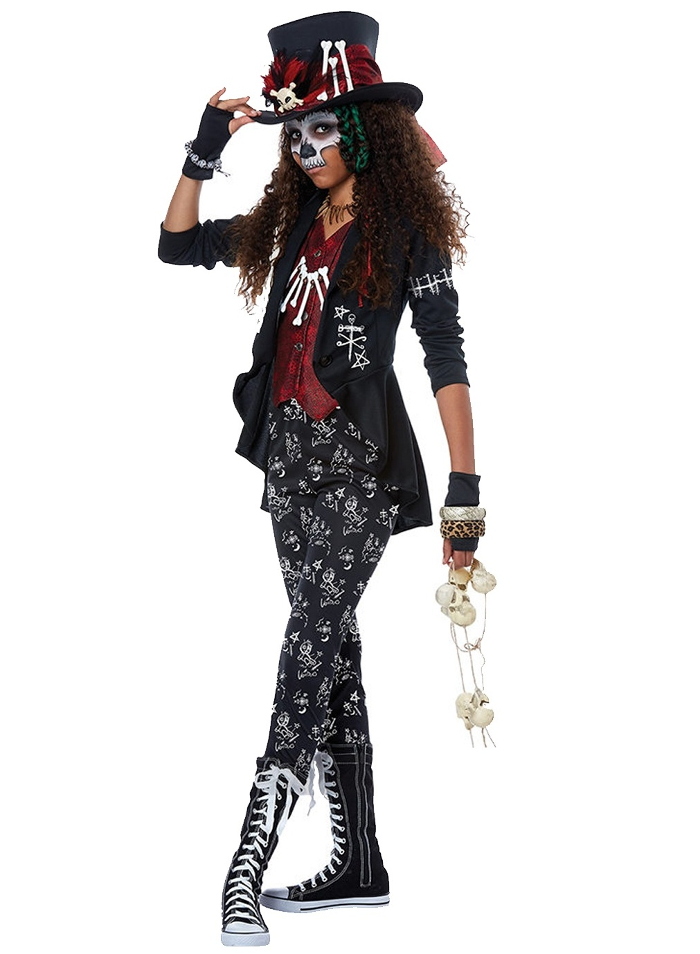 VOODOO CHARM WITCH DOCTOR COSTUME FOR GIRLS