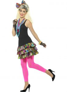 80s PARTY GIRL COSTUME SET FOR WOMEN
