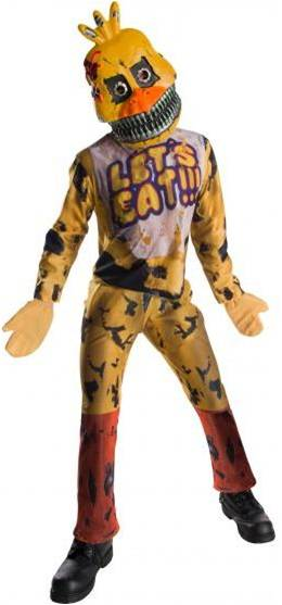 5 NIGHTS AT FREDDY'S NIGHTMARE CHICA KIDS COSTUME