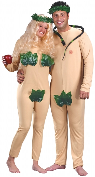 ADAM AND EVE COSTUME FOR ADULT COUPLES