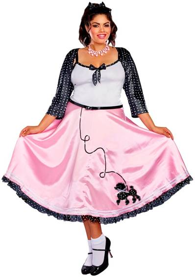 50s ROCK AROUND THE CLOCK COSTUME FOR PLUS WOMEN