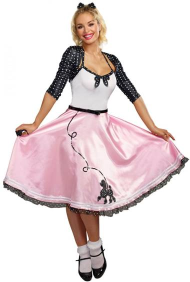 50s ROCK AROUND THE CLOCK COSTUME FOR WOMEN