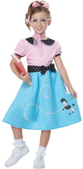 50s SOCK HOP DRESS COSTUME FOR GIRLS