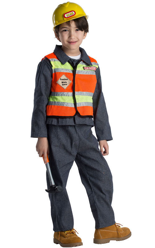 CONSTRUCTION WORKER COSTUME FOR KIDS