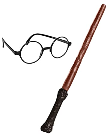 HARRY POTTER WIZARD WAND AND GLASSES SET