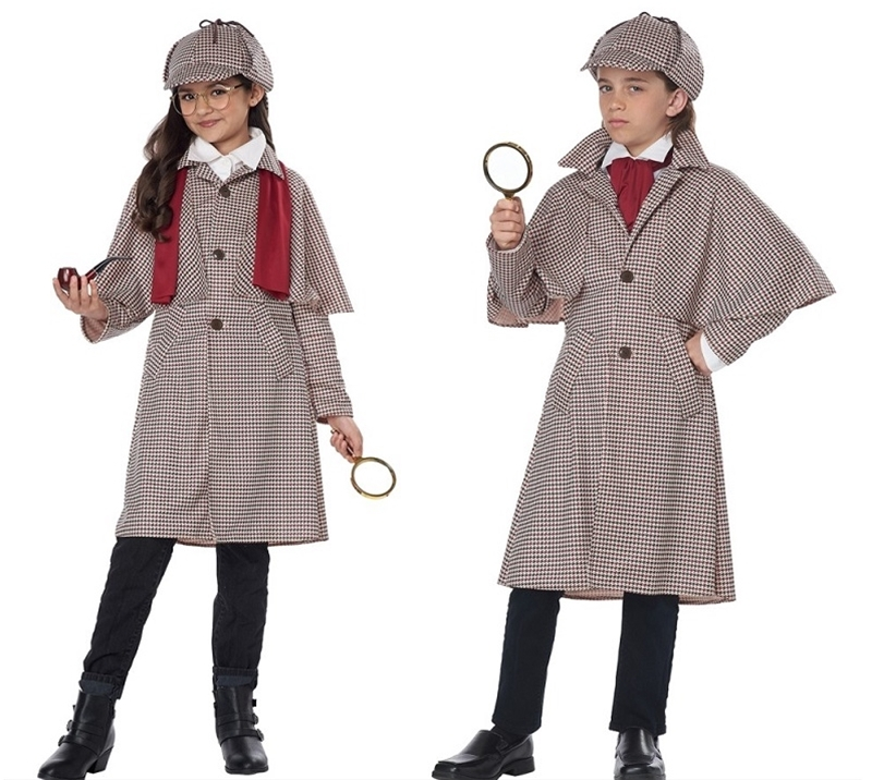 ENGLISH DETECTIVE SHERLOCK HOLMES COSTUME FOR KIDS