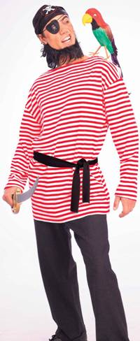 RED/WHITE STRIPED COSTUME SHIRT