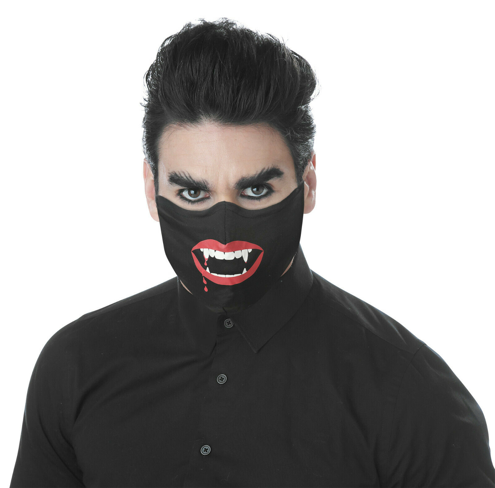GLOW IN THE DARK VAMPIRE FACE COVERING FOR ADULTS