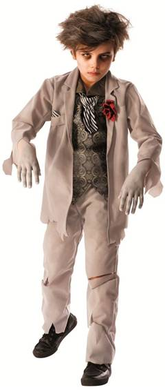 GHOST GROOM COSTUME FOR BOYS