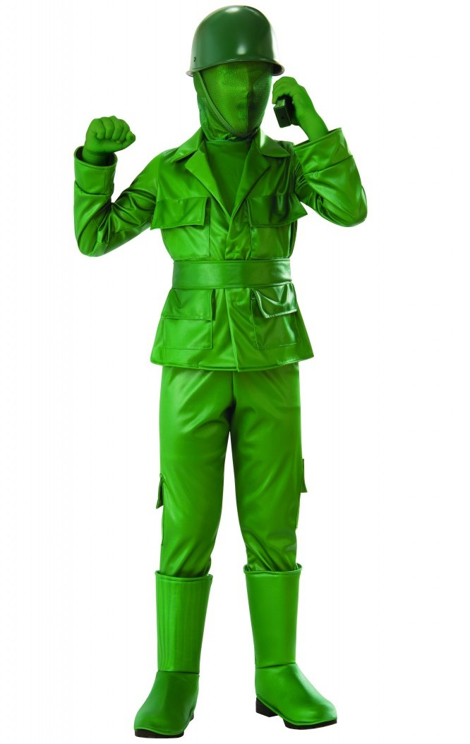 GREEN ARMY MAN COSTUME FOR BOYS