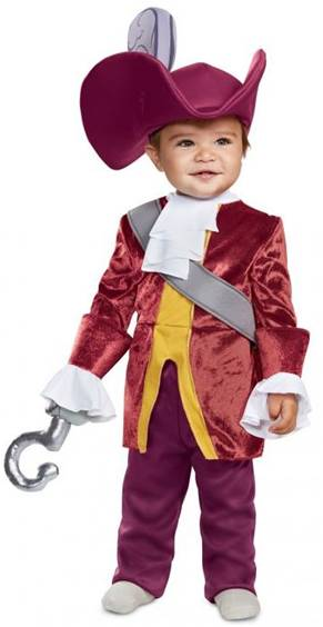 CAPTAIN HOOK COSTUME FOR INFANTS