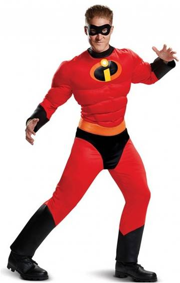 THE INCREDIBLES MR. INCREDIBLE COSTUME FOR MEN $54.99  sc 1 st  Crazy For Costumes : mr mrs incredible costumes  - Germanpascual.Com