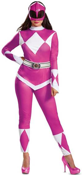 MIGHTY MORPHIN PINK POWER RANGER COSTUME FOR WOMEN