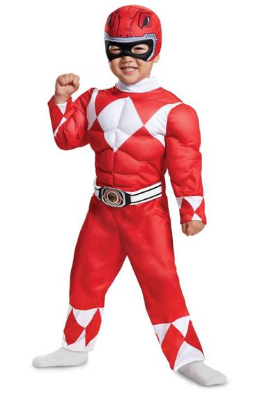 MIGHTY MORPHIN POWER RANGERS RED RANGER COSTUME