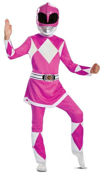 MIGHTY MORPHIN PINK POWER RANGER COSTUME FOR GIRLS