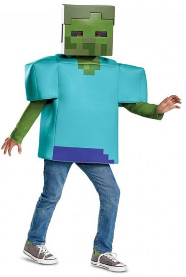 DELUXE MINECRAFT CREEPER ZOMBIE COSTUME FOR KIDS
