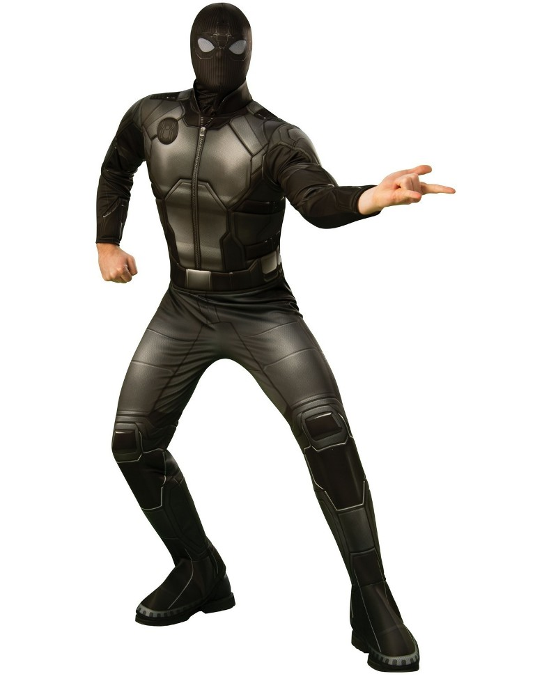 DELUXE BLACK AND GRAY SPIDER-MAN COSTUME FOR MEN