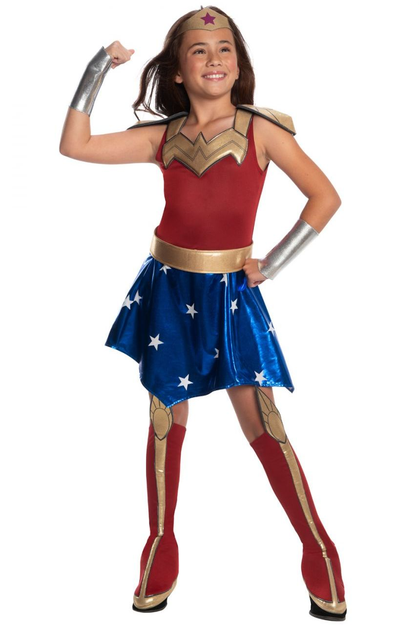 DC SUPERHEROES WONDER WOMAN COSTUME FOR GIRLS