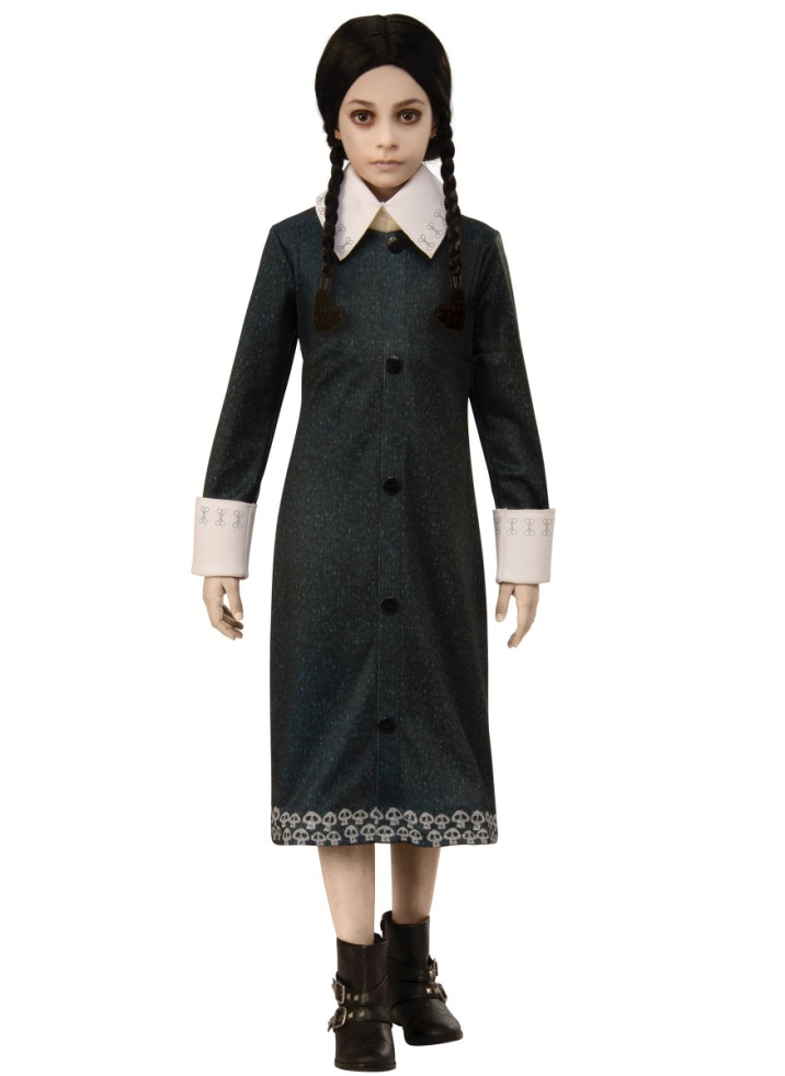 ADDAMS FAMILY WEDNESDAY ADDAMS COSTUME FOR GIRLS