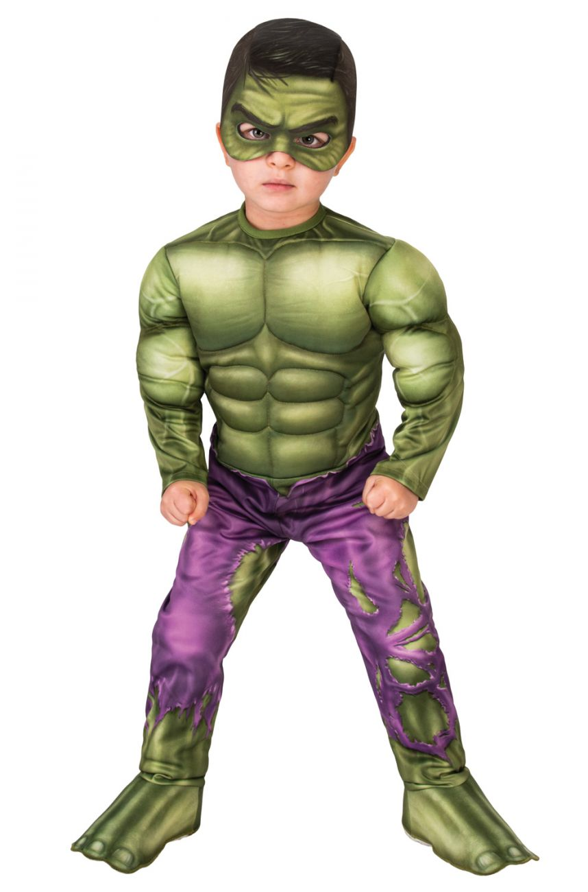 AVENGERS DELUXE INCREDIBLE HULK COSTUME FOR BOYS