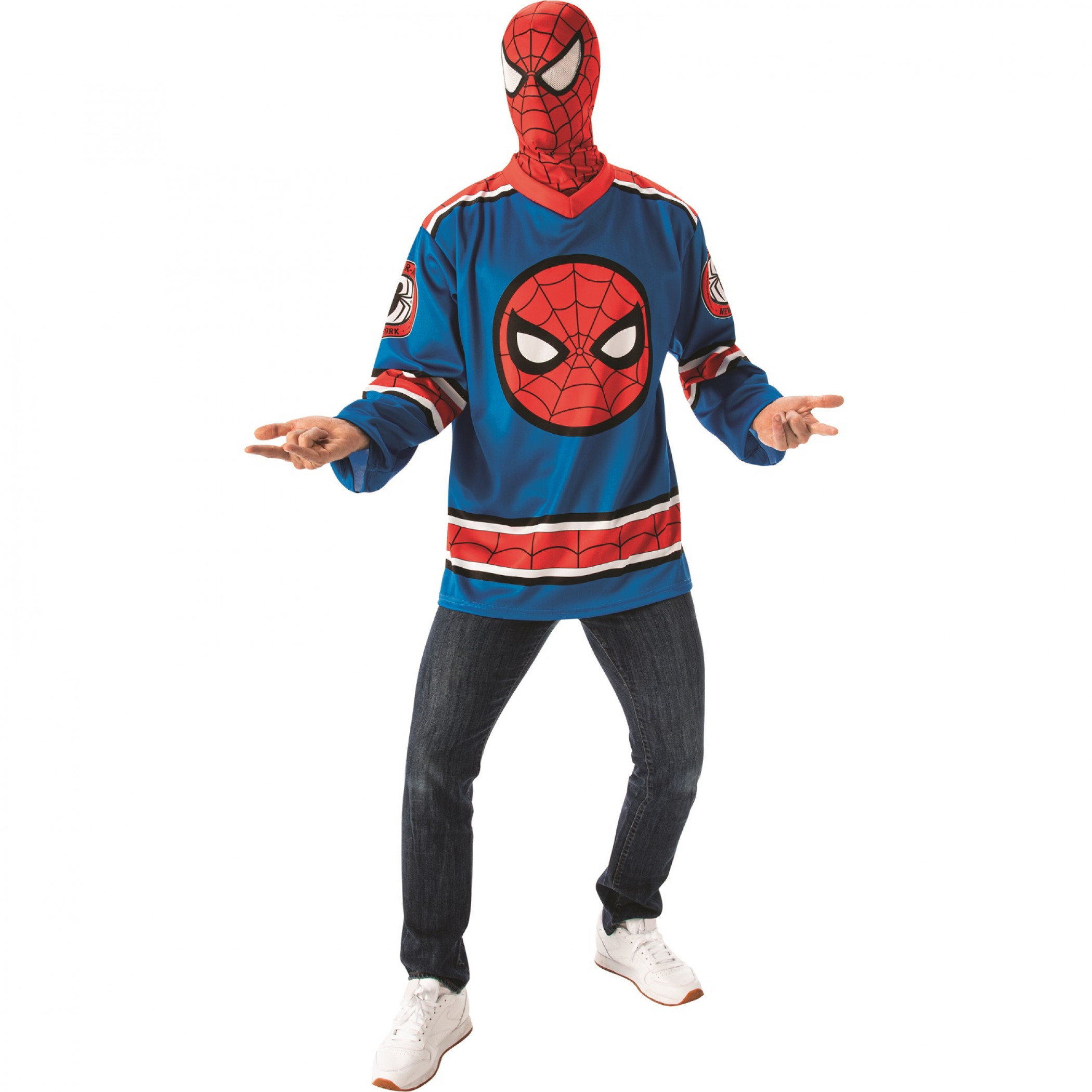 DELUXE SPIDER-MAN JERSEY AND MASK SET FOR MEN