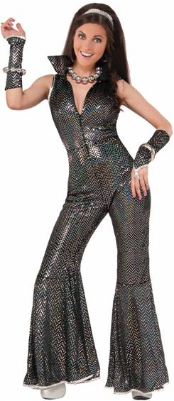 70s DISCO JUMPSUIT COSTUME FOR WOMEN