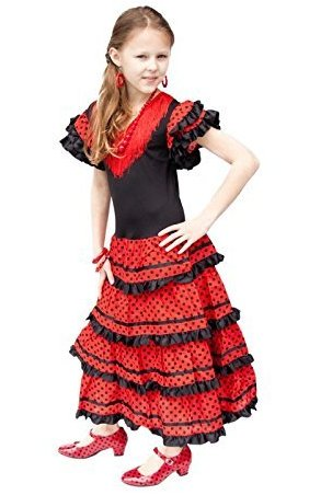 SPANISH FLAMENCO GIRL COSTUME FOR GIRLS