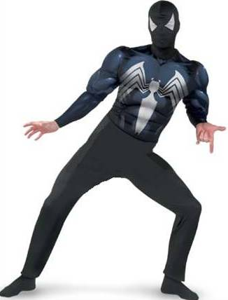BLACK SUITED SPIDER-MAN WITH MUSCLE TORSO