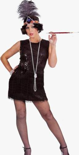 BLACK FLIRTY FLAPPER